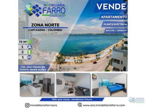 en venta apartamento en zona norte cartagena ve03 0332zn mn