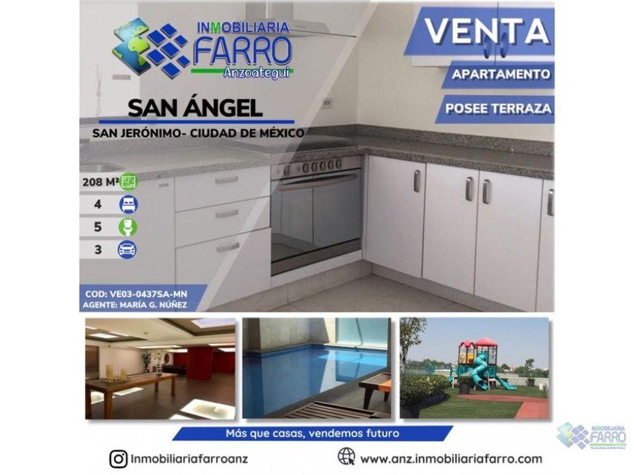 en venta apartamento san angel mexico ve03 0437sa mn