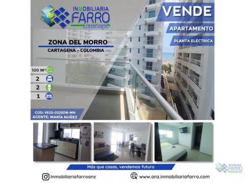 en venta apartamento zona del morro cartagena ve03 0329zm mn