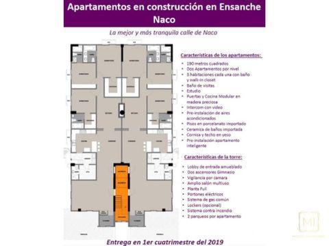 en venta apartamentos en proyecto naco sd rd