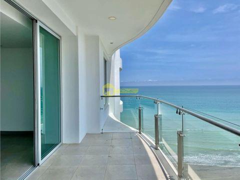 en venta departamento en zona exclusiva frente al mar en manta