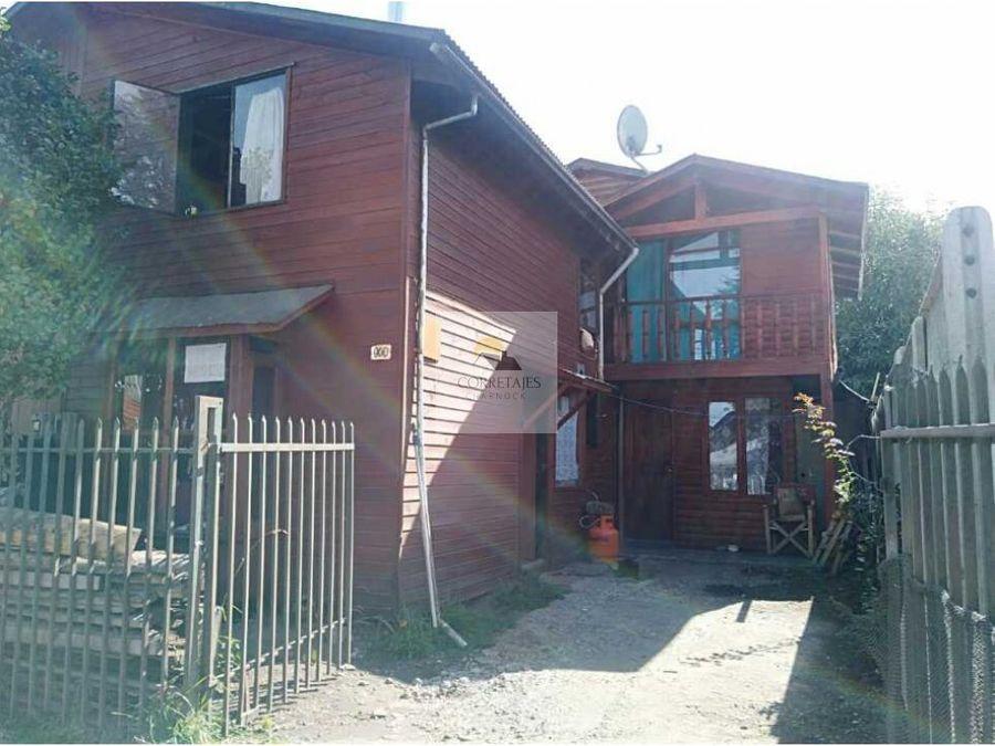 en venta dos casas en una villa cordillera pucon