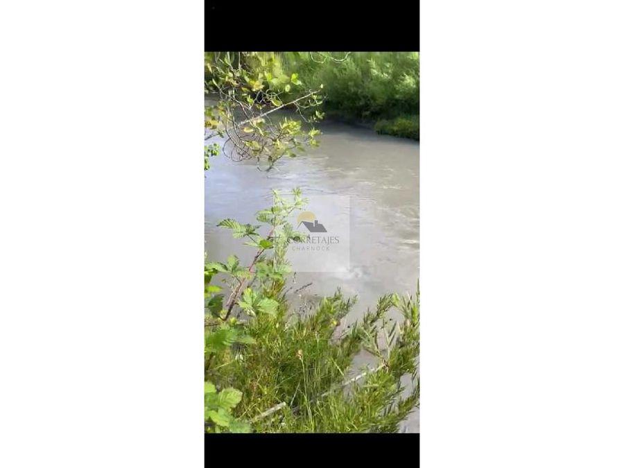 en venta dos hectareas con rio curarrehue