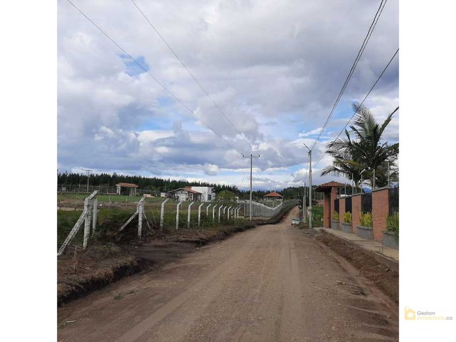 en venta parcela 1810 m2 ciudad verde popayan