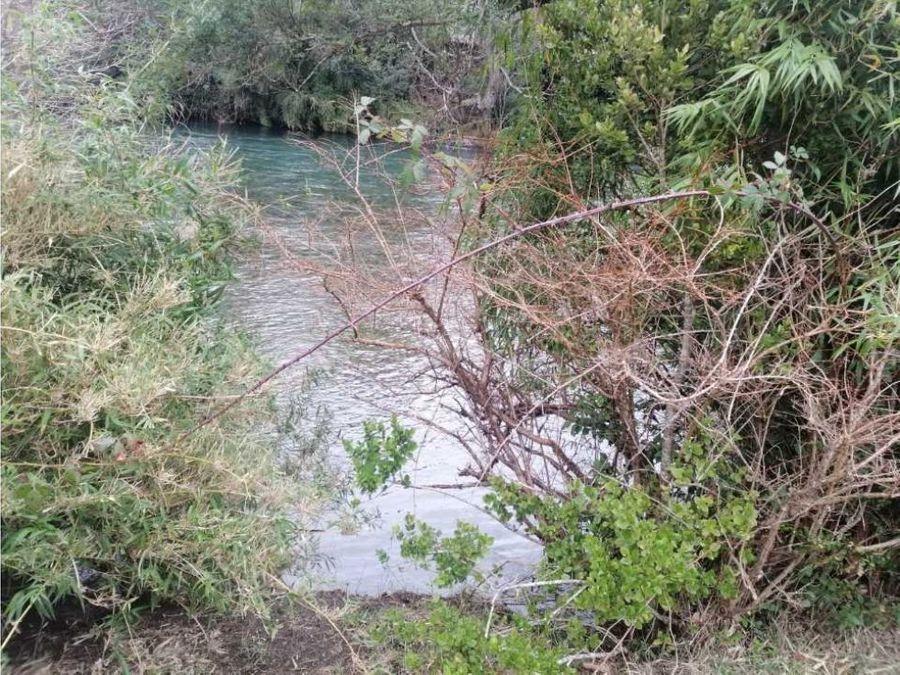 en venta parcela con ribera de rio liucura