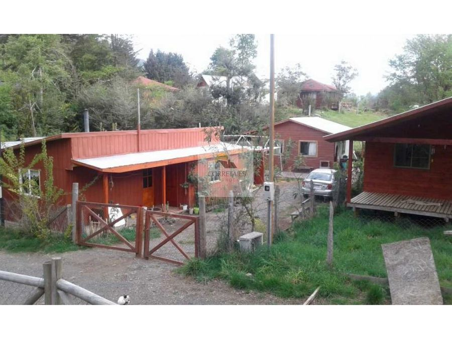 en venta terreno con dos casas en caburgua excelente ubicacion