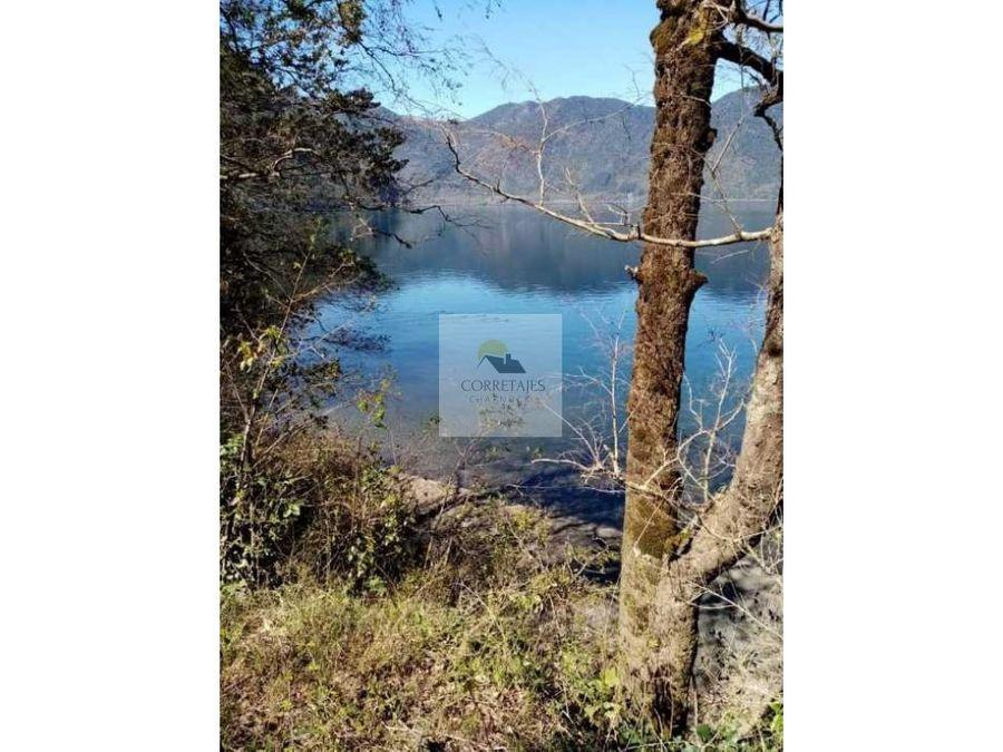 en venta 4 hectareas con orilla de lago colico cunco
