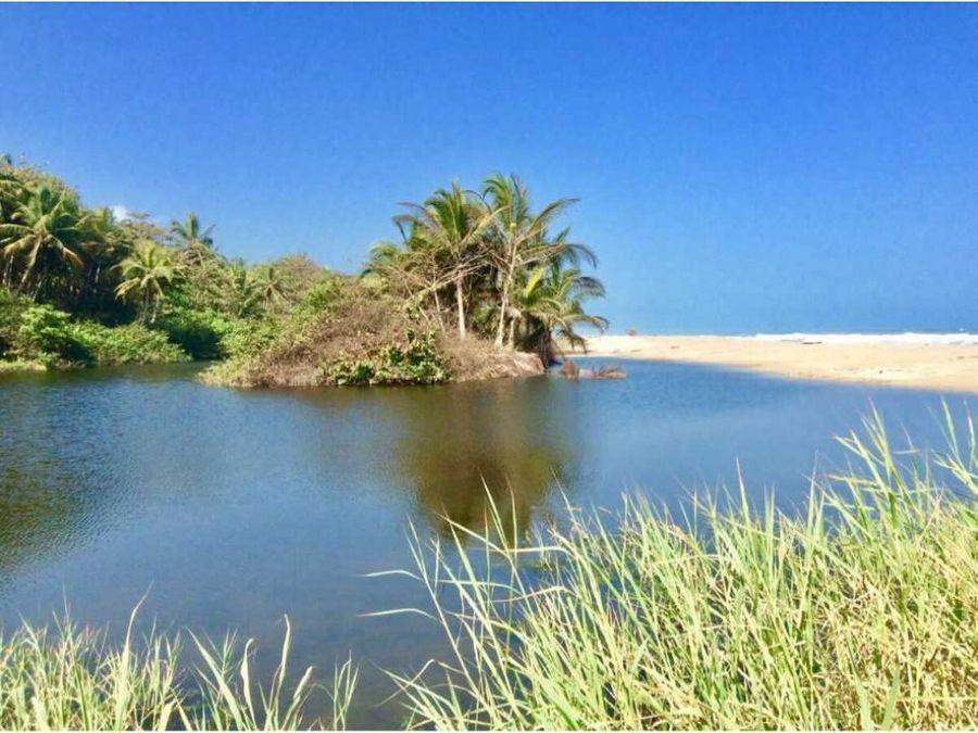 finca 20 ha con playa en guachaca santa marta