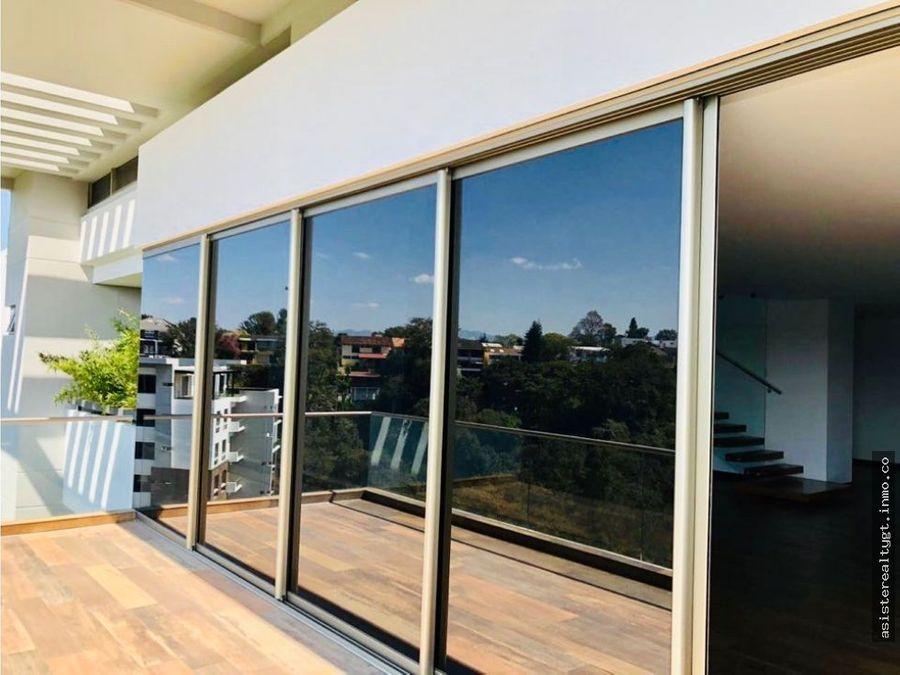 hermoso pent house en venta renta acantos de cayala zona 16