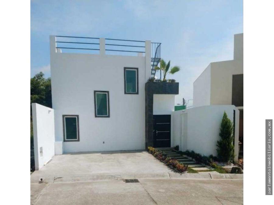 hermosa casa en condominio en jiutepec