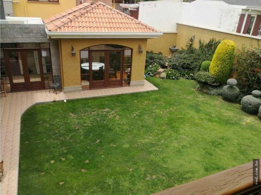 hermosa casa en jardines del sur achumani