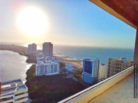 hermosa vista al mar y cienaga cabrero