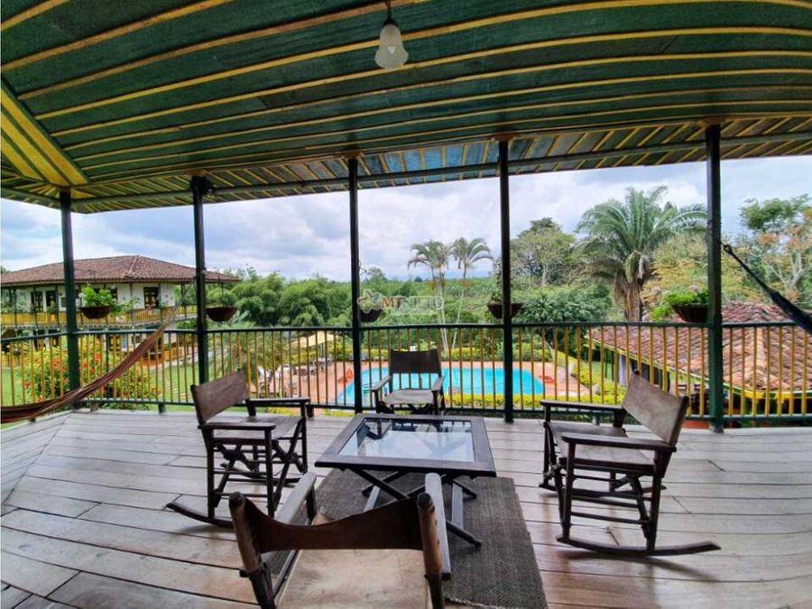 hotel campestre lote 16230 m2 de 8 hab zona parque del cafe