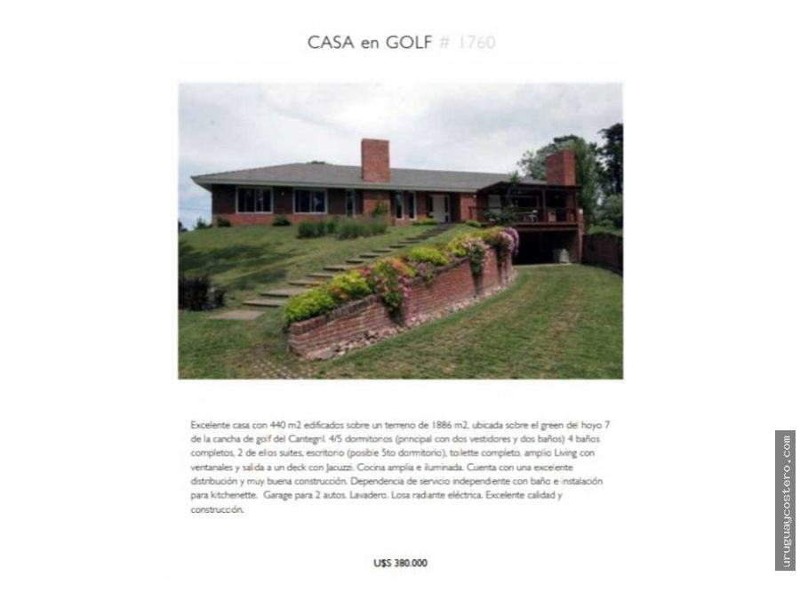 importante casa en venta en zona golf