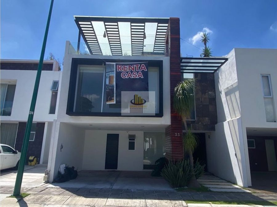 linda casa en renta en la cima junto a la vista zona angelopolis