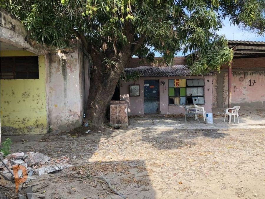local terreno y casa en avenida aleman mazatlan