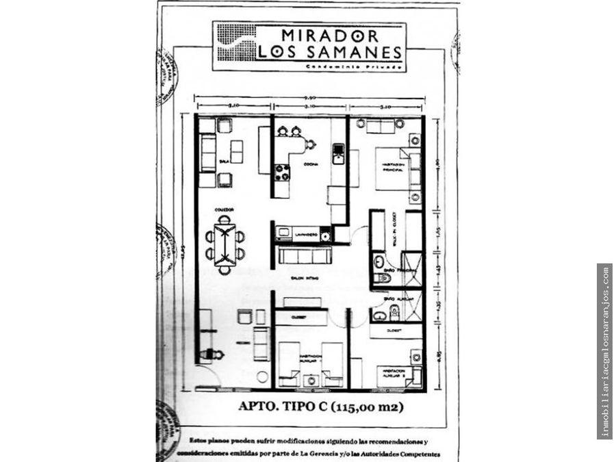 los samanes apartamento en venta cd 21 016