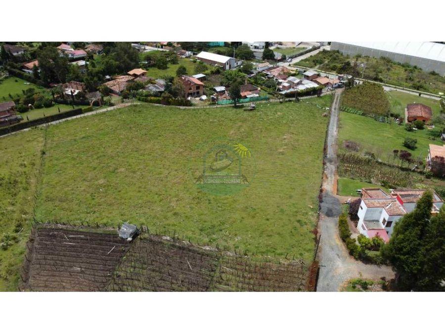 lote de una hectareas para 4 viviendas o para parqueadero de maquinas