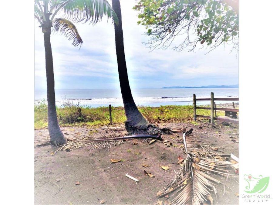 lote en playa tivives puntarenas frente al mar