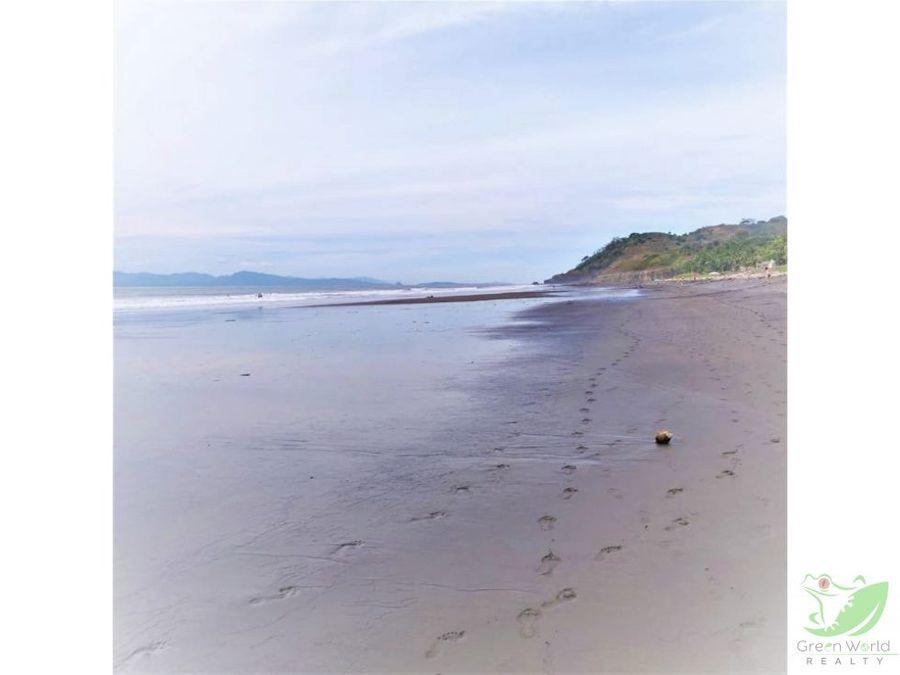lote frente al mar en playa tivives puntarenas