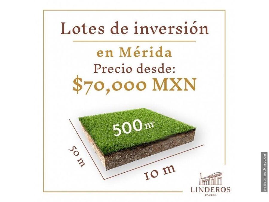lotes de inversion al poniente de merida junto a hacienda
