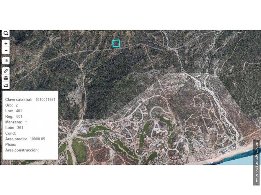 parcela quinones 1 hectarea camino a cabo del este