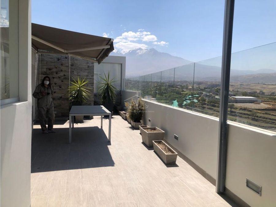 penthouse de lujo en cayma con vista espectacular