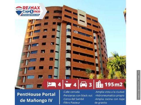 penthouse en venta urbanizacion manongo