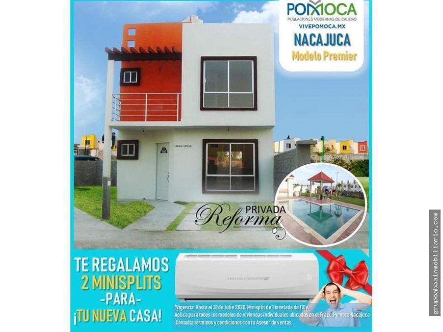 promocion del mes casas nuevas en privada pomoca
