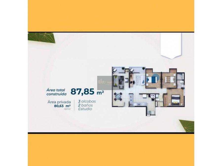 proyecto sobre planos apartamento de 3 habitaciones norte de armenia