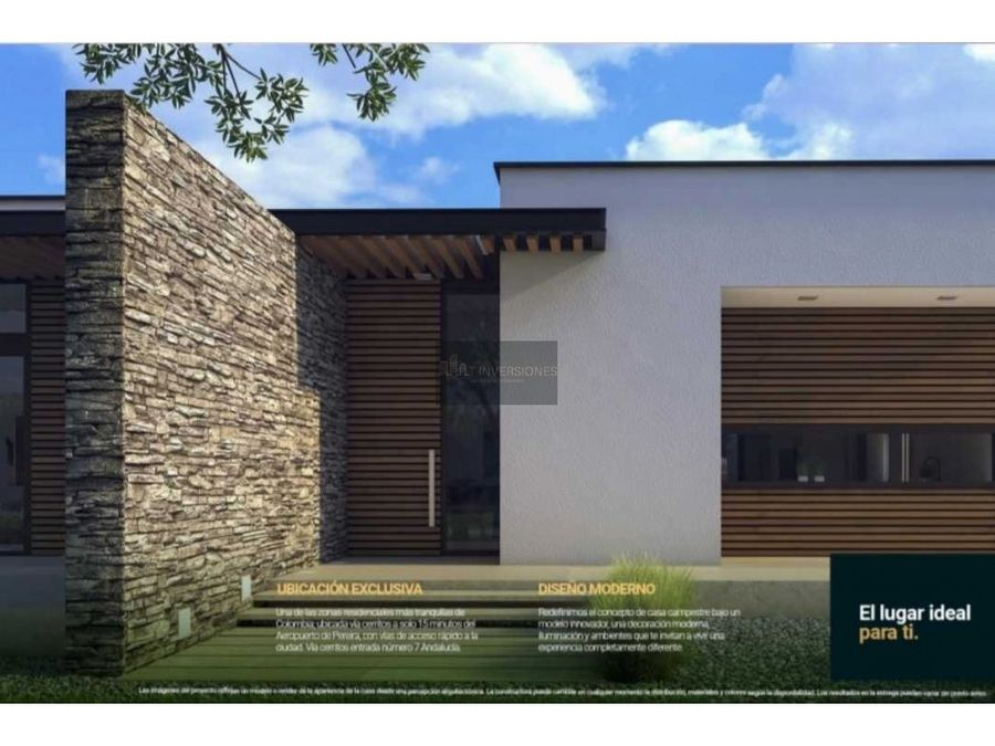 proyecto de casas de campo cerritos risaralda