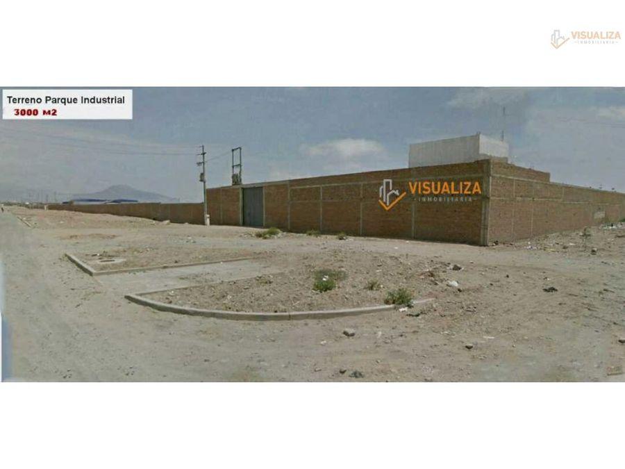 remato terreno en parque industrial tru 3000 m2