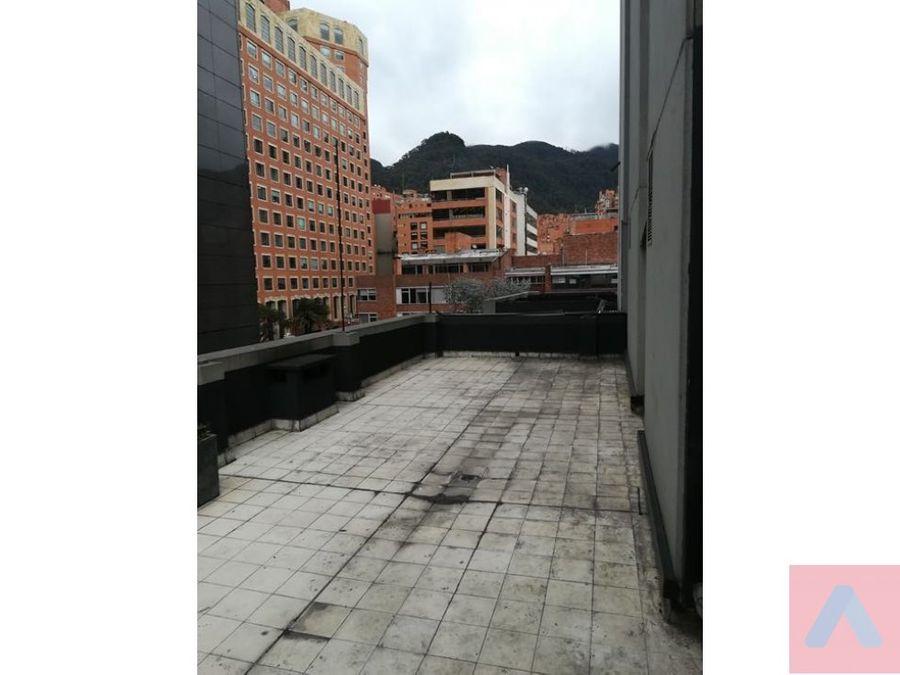 renta oficina calle 72 por porcincula 110 m2 2 terrazas