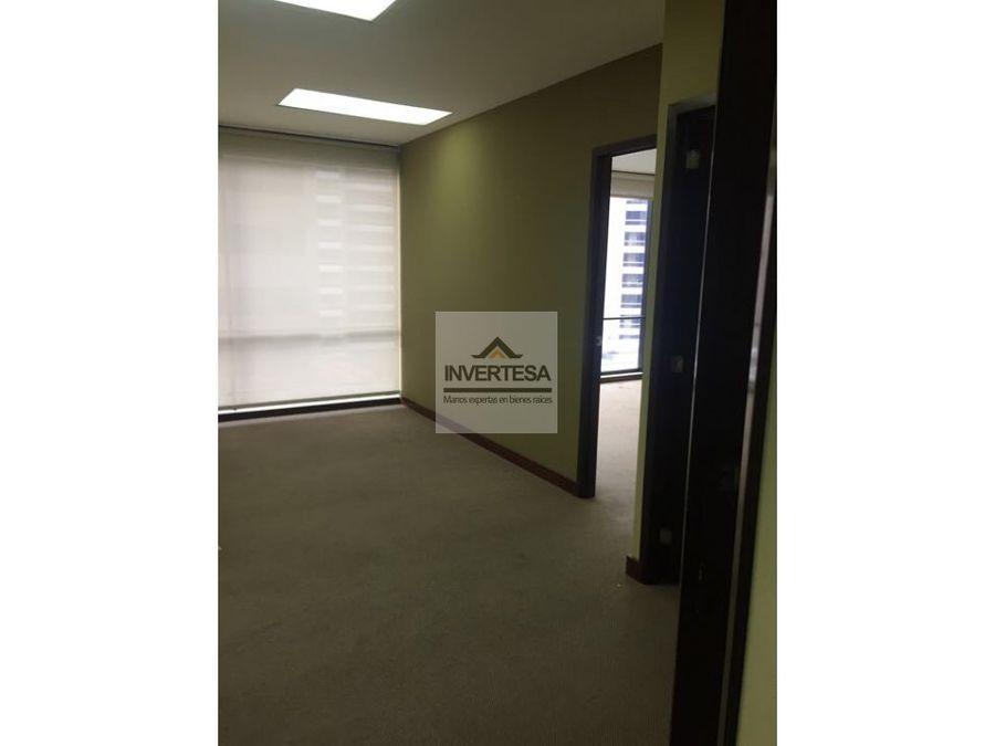 renta oficina zona 10 edificio design center lista para trasladarse