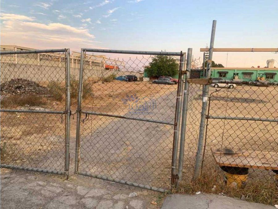 renta terreno 6300 mts junto a hospital de la mujer agua santa puebla