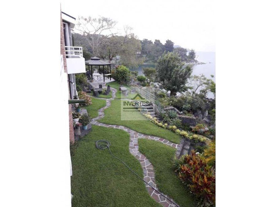rento bella casa a la orilla del lago de atitlan