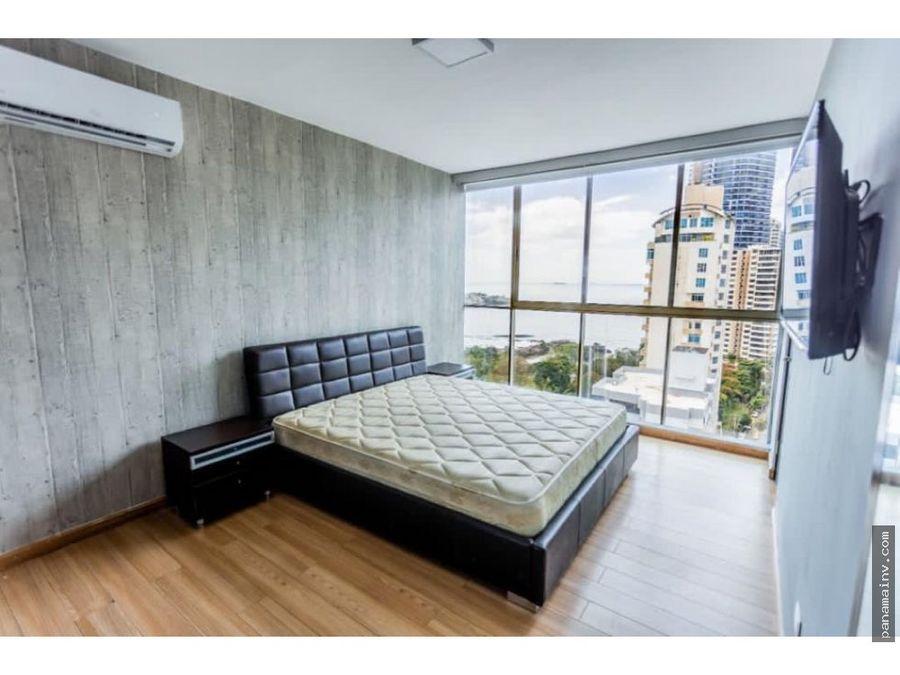 se alquila apartamento amoblado en punta pacifica 4993vp