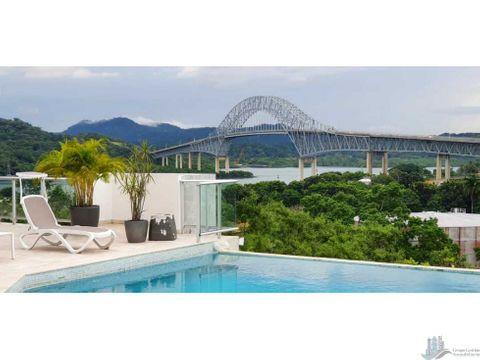 se alquila en ph the bridge apartamento 250m2 lb espectacular vista