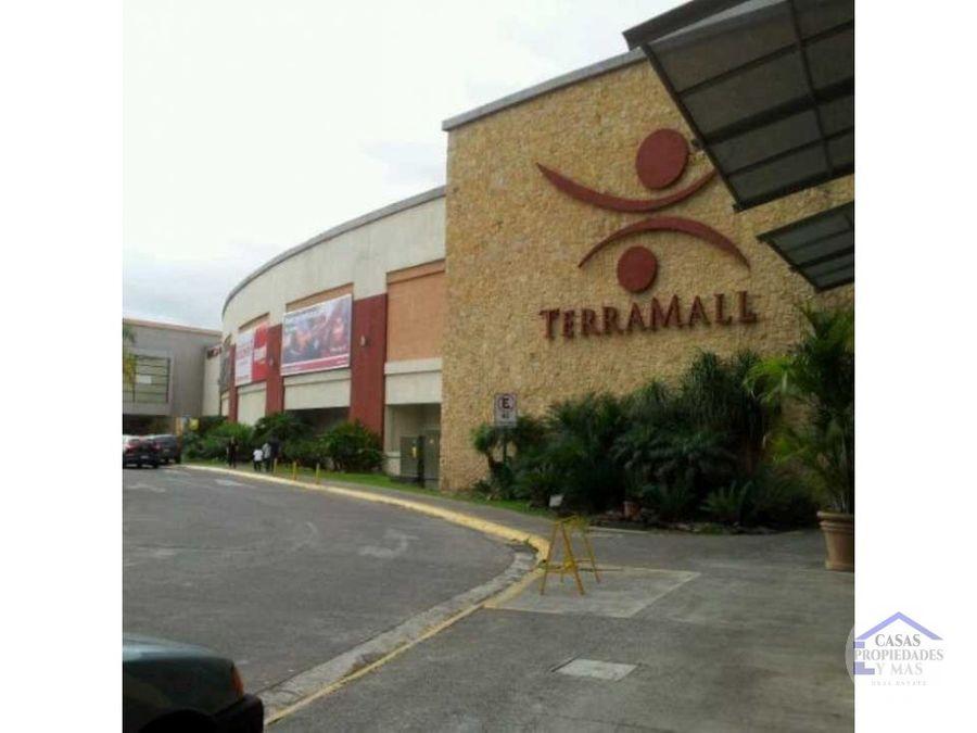 se alquila local comercial en terramall 25 x m2 area 6322 m2