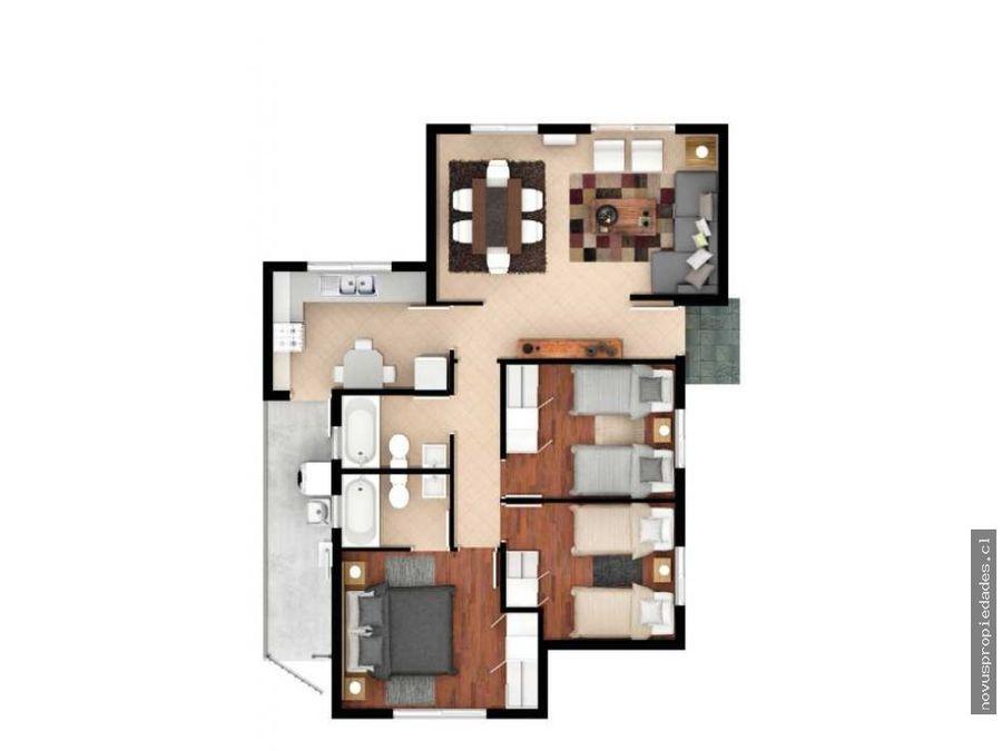 se arrienda casa en sector parque san valentin 3 dormitorios y 2 banos