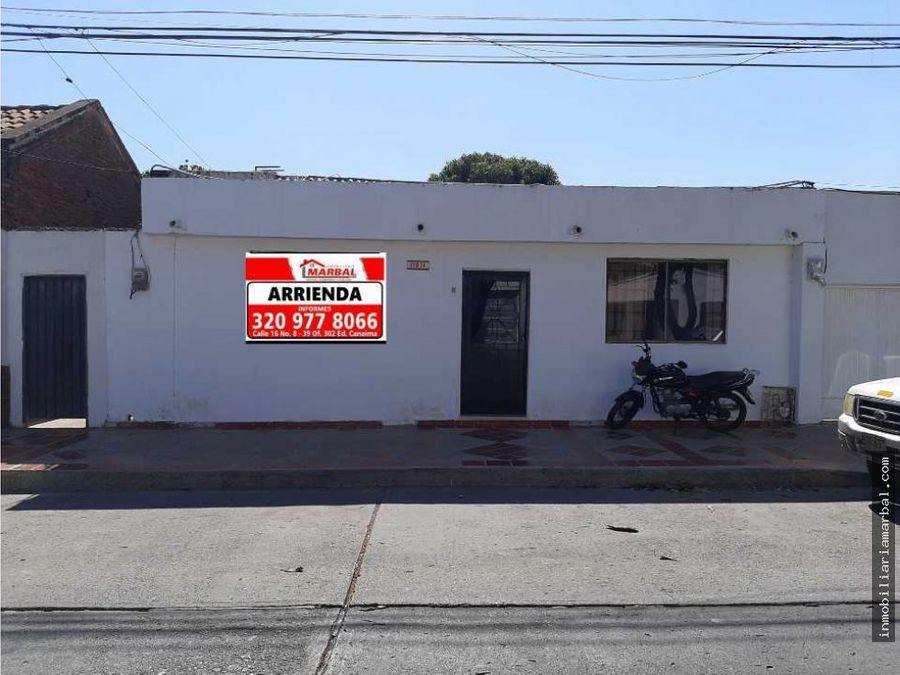 se arrienda casa para uso comercial o residencial barrio obrrero