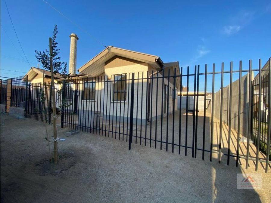 hermosa casa nueva en sector residencial quillota