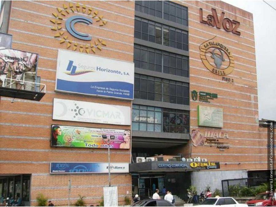 se vende oficina 1amb centro comercial oasis center guatire