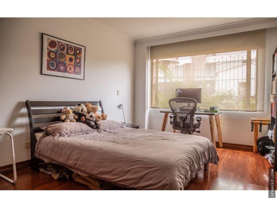 se vende apartamento con terraza en chico museo bogota