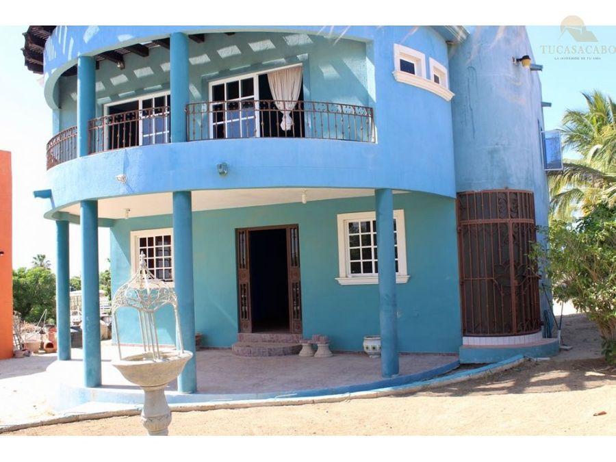 se vende casa azul la ribera los cabos