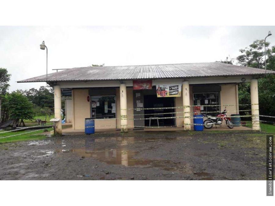se vende excelente local comercial en quebradon de san jose de upala