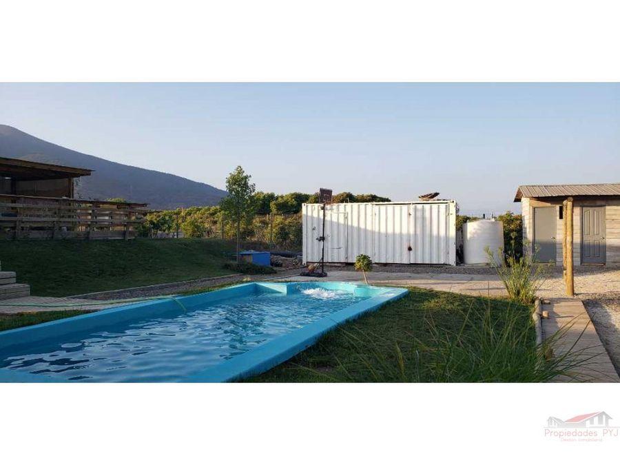 se vende hermosa parcela con casa y piscina en boco