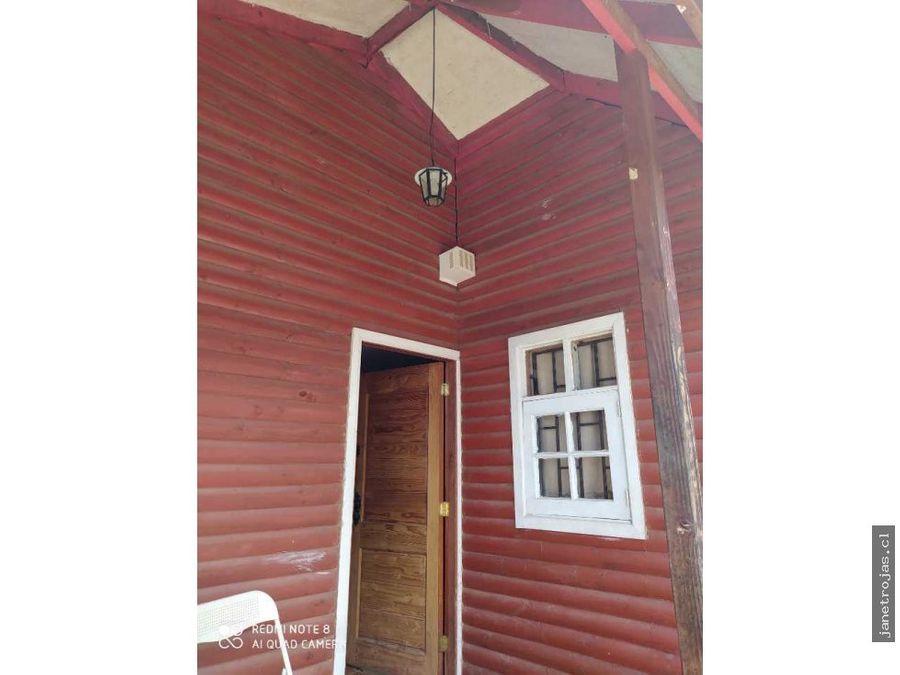 se vende parcela en olmue con casa construida madera nativa