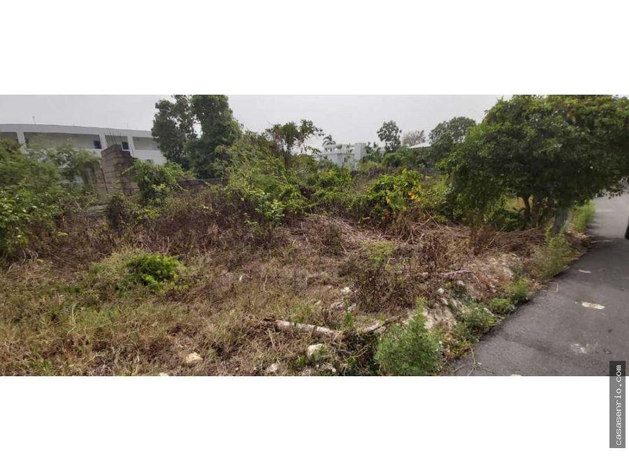 solar en venta en urbanizacion rosa delia en rio san juan