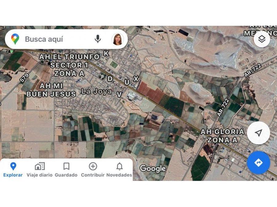 terreno 10000m2 en distrito de la joya arequipa